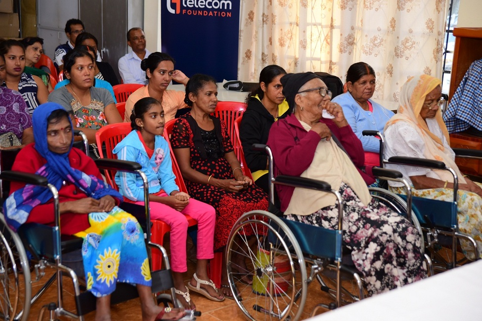 Distribution of commode wheelchairs Goodlands